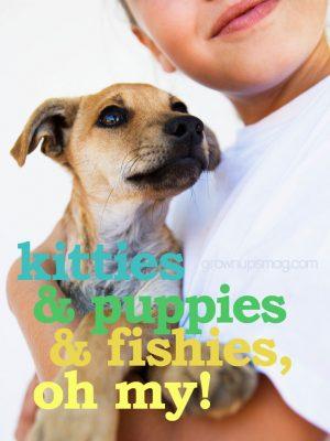 Kitties Puppies and Fishies