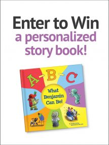 Win a personalized story book!