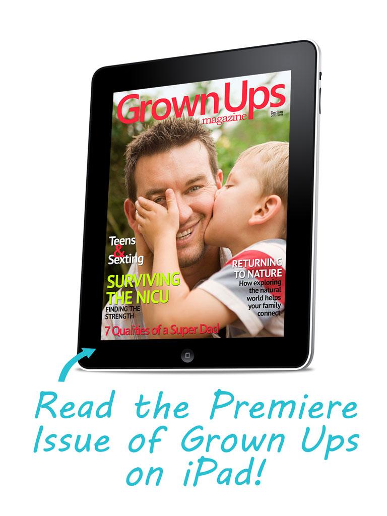 Read Grown Ups on iPad!