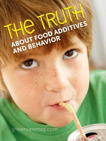 The Truth About Food Additives and Behavior - Grown Ups Magazine - Keep your kids additive-free with these tasty treats!