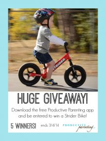 Parenting App Bike Giveaway