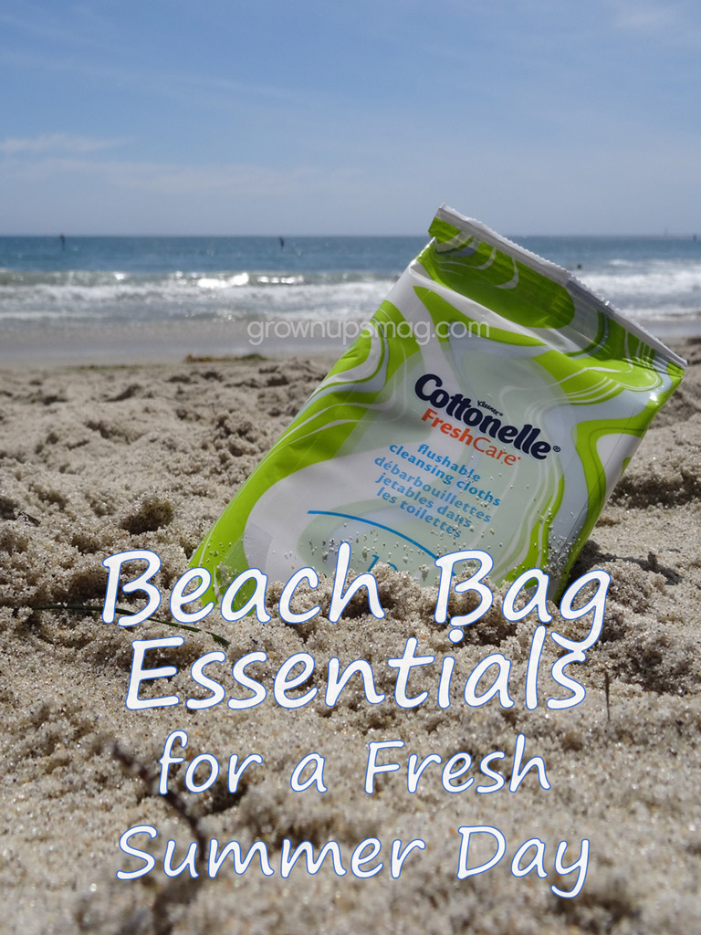 Beach Bag Essentials for a Fresh Summer Day - Grown Ups Magazine - On a summer trip, campfire soot, beach sand, sweat, sunscreen, and inconvenient bathroom breaks are inevitable. Make sure you stay fresh with Cottonelle!