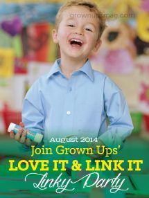 Grown Ups Magazine August 2014 Linky