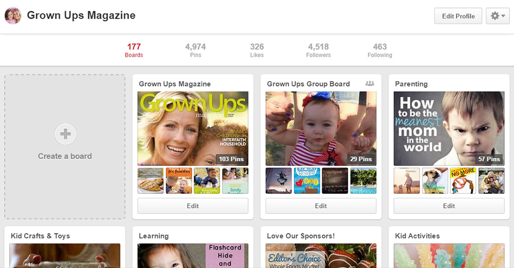 Create A New Pinterest Board