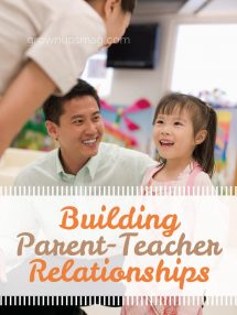Building Parent-Teacher Relationships - Grown Ups Magazine - Establish a positive relationship with your child's teacher using these five steps.