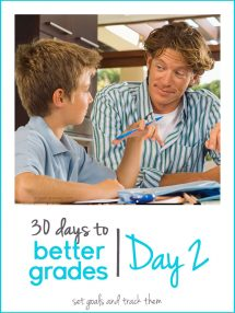 30 Days to Better Grades: Day 2 - Set Goals and Track Them - Grown Ups Magazine - Before setting a new goal, evaluate your starting point.
