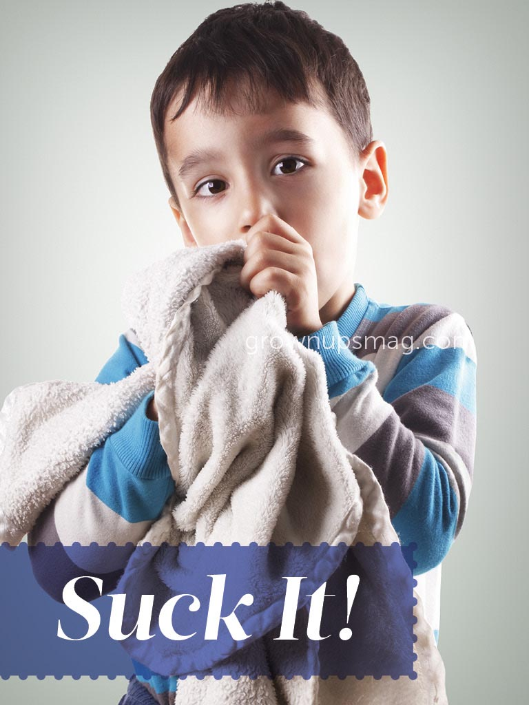 Suck It! - Grown Ups Magazine - Experts disagree on thumb sucking, but the bottom line? Everything in moderation.