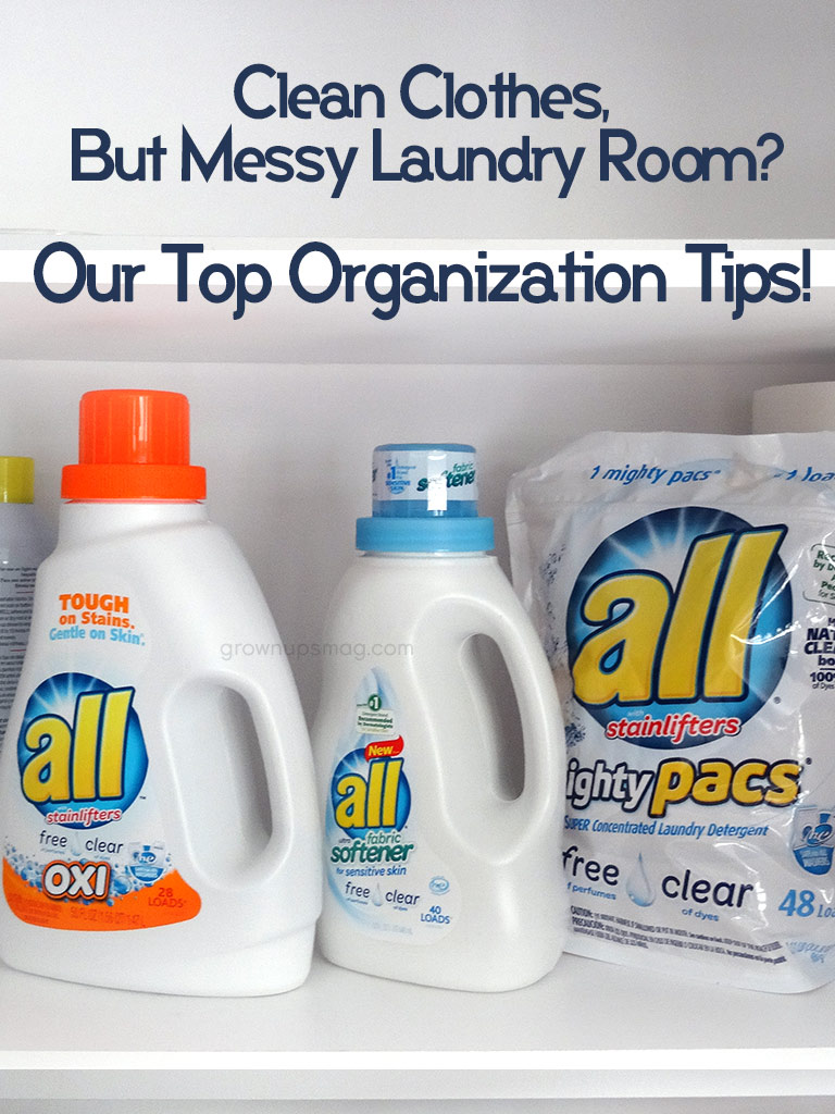 Organize your Laundry Shelf