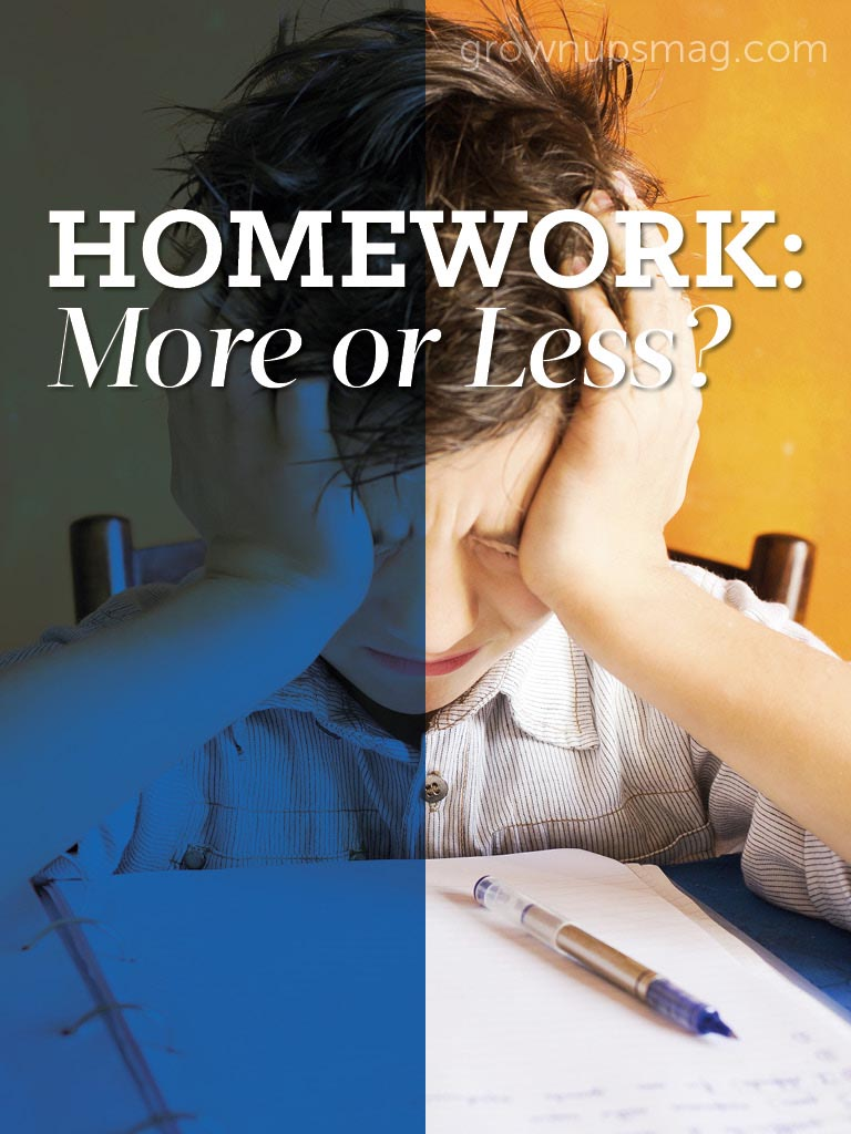 Homework: More or Less? - Grown Ups Magazine