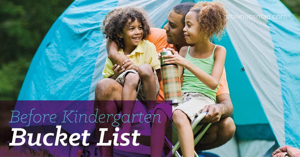Before Kindergarten Bucket List - Grown Ups Magazine