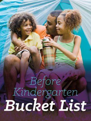 Before Kindergarten Bucket List - Grown Ups Magazine