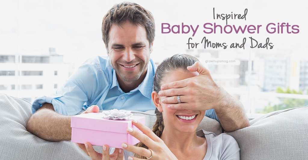 Inspired Baby Shower Gifts for Moms and Dads - Grown Ups Magazine - Every baby needs gear, but when is it time to step back from the piles of onesies and blankets and come up with something truly useful to mom or dad?