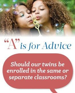"""""""A"""" is for Advice – Twins"""