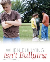 When Bullying isn't Bullying