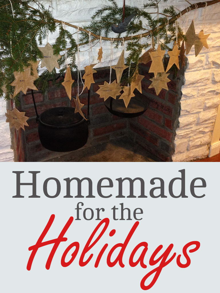 Homemade for the Holidays - Grown Ups Magazine - Tackle this rustic good deeds calendar with your kids this holiday season.