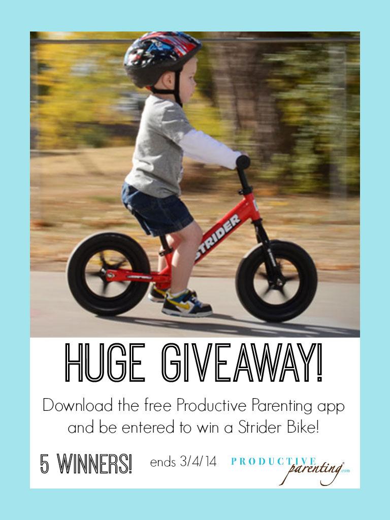 Parenting App Bike Giveaway