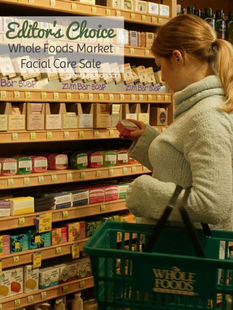 Whole Foods Facial Care Sale
