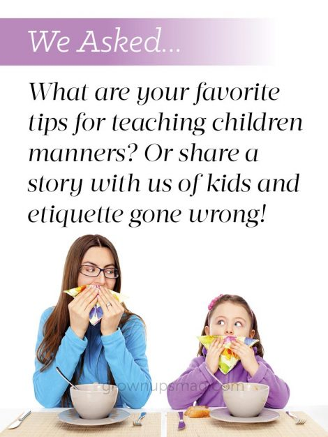 We Asked Children Manners