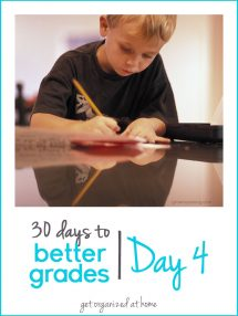 30 Days to Better Grades: Day 4 - Get Organized (at Home) - Grown Ups Magazine - To keep your child on track, create a dedicated homework space stocked with the tools needed to succeed.