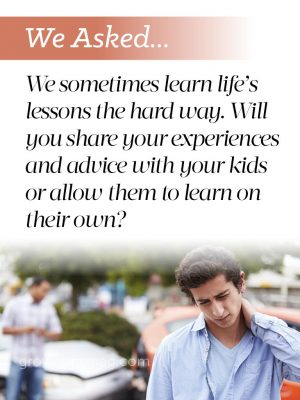 We asked... Life Lessons - Grown Ups Magazine