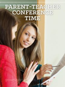 Parent-Teacher Conference Time - Grown Ups Magazine - Nervous about parent-teacher conferences? We offer four ways to foster a mutually productive relationship with your child's teacher.
